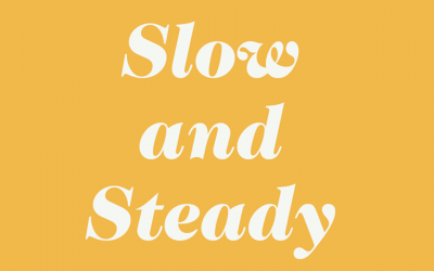 Slow and Steady WINS. THE. RACE.